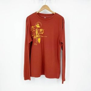 Prana Long Sleeve Graphic T-Shirt Men's Orange L